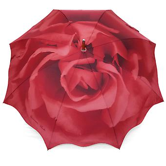 Umbrella red rose motif