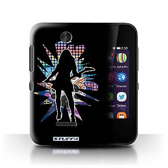 STUFF4 Case/Cover for Nokia Asha 230/Rock Chick Black/Rock Star Pose
