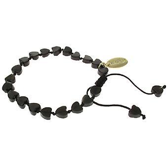 Lola rosa Mikita pulsera negro obsidiana piedra