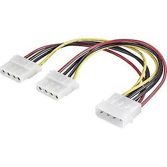 Extension cable [1x IDE power plug 4-pin - 2x IDE power socket 4-pin] 0.20 m B