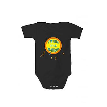 T-shirt with print baby body I am one in a million in various languages