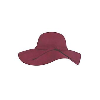 Rode bohemian chic hoed