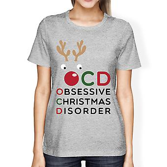 OCD Obsessive Christmas Disorder Grey Women's Tee Cute Holiday Gift
