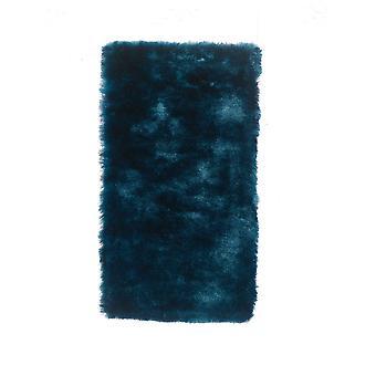 Blauwe zijdeachtige Shaggy tapijt Pari