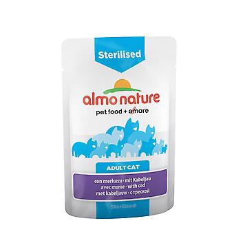 Almo Nature Sterilised Cat With Cod 70g (Pack of 30)