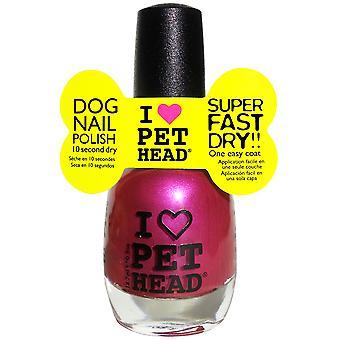 Pet Head Nail Polish 14.7ml Fuchsia (Pack of 4)