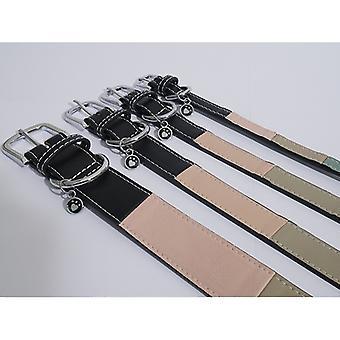 Luxury Leather Collar Three Tone 1