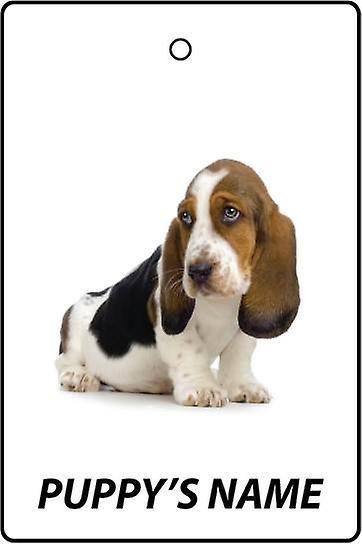 Personlig Basset Hound Puppy bil Air Freshener