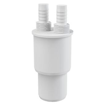 White Plastic Reduction Connection Reducer to Waste 40/50xG1/2