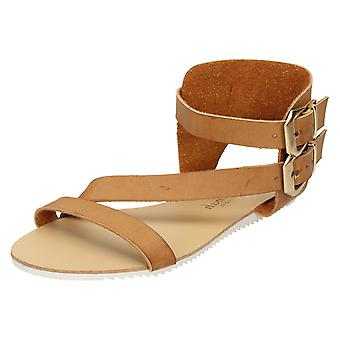 Ladies Savannah Flat Asymmetrical Strap Mule F0866