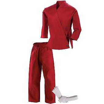 Century Kid's 7 oz. Middleweight Student Uniform with Elastic Pant - Red