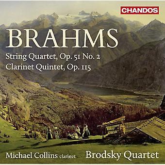 Brahms/Brodsky-Quartett/Collins - Zeichenkette-Quartett-Nr. 2/Klarinette Quintett [CD] USA import
