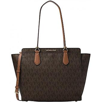 Michael Kors Dee Dee Large Convertible Logo Tote - Brown - 30F6GTWT4B-200