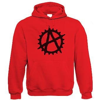 Vectorbomb, Anarchy Cog, Unisex Cycling Hoodie