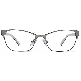 Carvela Upswept Square Glasses In Gunmetal