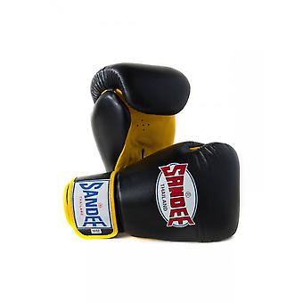 Sandee Black-Yellow Boxing Gloves