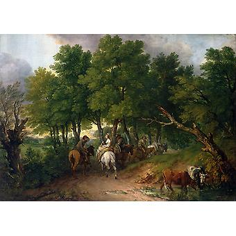 Thomas Gainsborough - Road from Market Poster Print Giclee