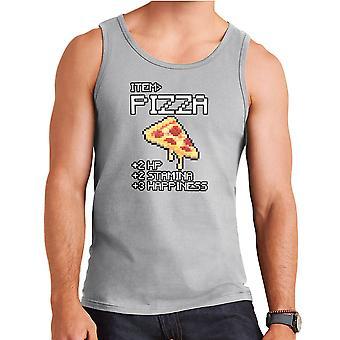 Pizza Boost Food Video Games Men's Vest