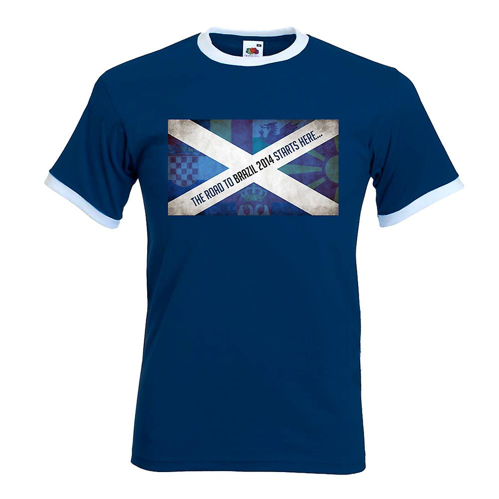 Scotland Road To Brazil 2014 T-Shirt (Navy)