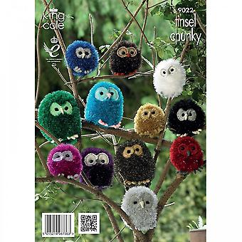 King Cole Pattern 9022 - Tinsel Chunky Owl