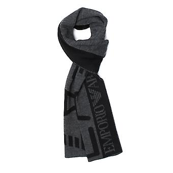EA7 Black & Grey Knit Scarf