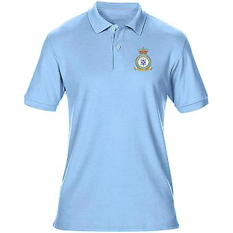 Leuchars RAF Station Embroidered Logo - Official Royal Air Force Mens Polo Shirt