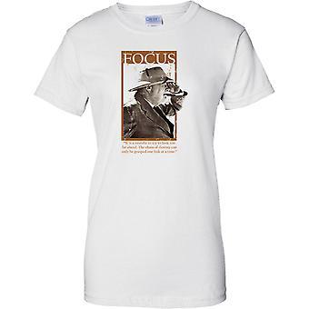 Winston Churchill - Focus - to było, A błąd do wyglądać - Panie T Shirt