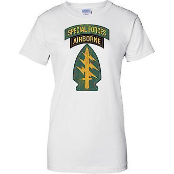Las fuerzas especiales aerotransportadas Insignia - boina verde - Delta - militar - señoras T Shirt