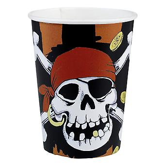 8 Jolly Roger Paper Cups