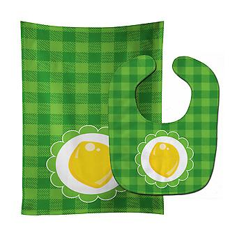 Carolines Treasures  BB7107STBU Lemon Baby Bib & Burp Cloth