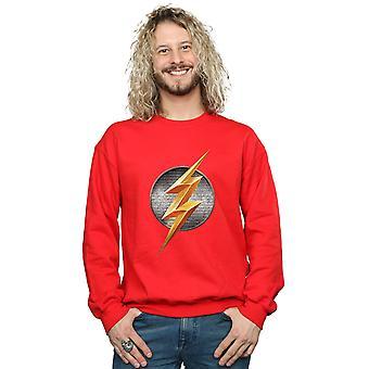DC Comics Men's Justice League Movie Flash Emblem Sweatshirt