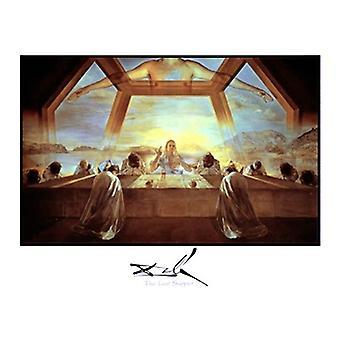 Den sidste nadver plakat Print af Salvador Dali (28 x 22)