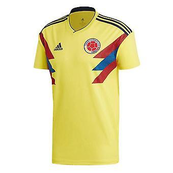 2018-2019 Colombia hem Adidas fotbollströja (Kids)