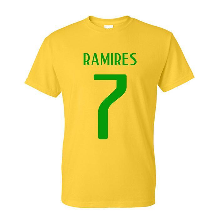 Ramires Brazilië held T-shirt (geel)