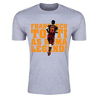 Francesco Totti Roma Legend T-Shirt (Grey)