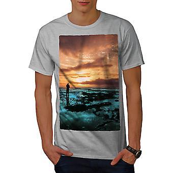 Fishing Sea Ocean Men GreyT-shirt | Wellcoda