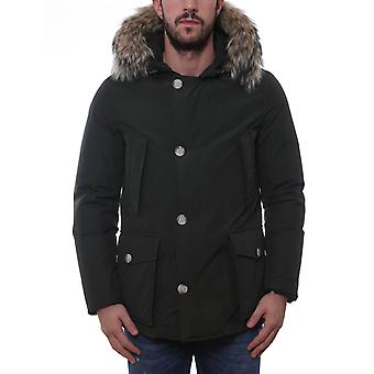 Woolrich men's WOCPS2477RSG green cotton coat