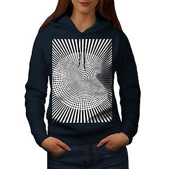 Pattern Stylish Fashion Women NavyHoodie | Wellcoda