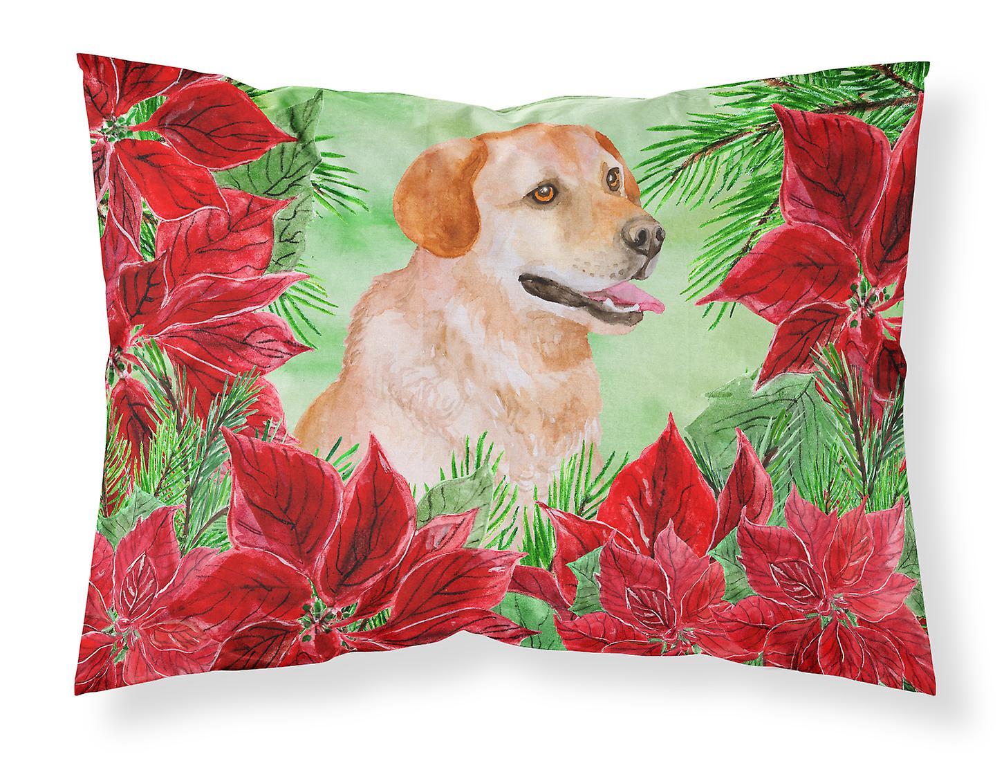 Labrador Standard Retriever Du D'oreiller De Poinsettias Taie Tissu MpqUGSzV