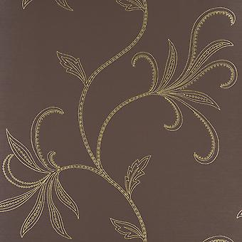 Harlequin Brown & Gold Wallpaper Roll - Flat Patterned Design - Colour: 75860