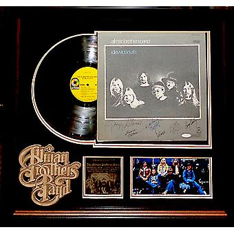 Allman Brothers Band - Signed Idlewild South Album LP Custom Framed