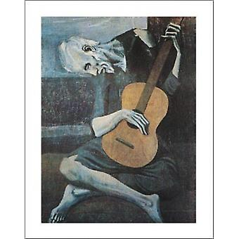 Old Guitarist Poster Print by Pablo Picasso (22 x 28)
