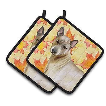 Carolines Treasures  BB9941PTHD Thai Ridgeback Fall Pair of Pot Holders