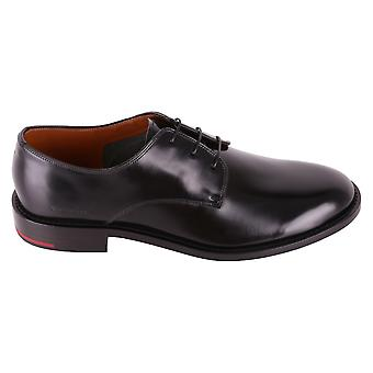 Givenchy men's BH100DH00W001 black leather lace-up shoes
