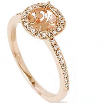 1 / 3ct diamant engagemang Halo Ring 14K roséguld inställning