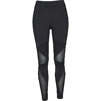 Urban classics ladies - TECH MESH triangle fitness leggings
