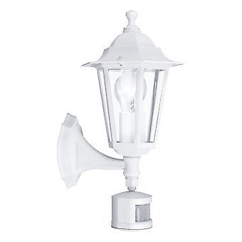 Eglo Lanterna4 1 Light Outdoor Sensor Wall Light White IP33