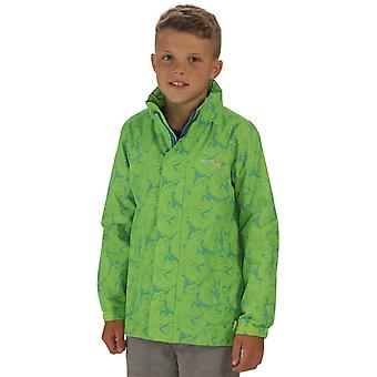 Regatta Boys & Girls Printed Overchill Mesh Lined Taped Seams Waterproof Jacket