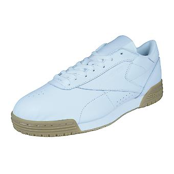Reebok Classic Womens Leather Trainers Exofit Lo CLN Garment Gum - White