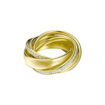 Joop women's ring stainless steel gold cubic zirconia embrace JPRG10631B